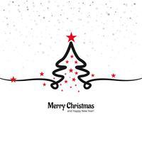 Beautiful merry christmas creative tree design