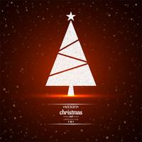 Merry christmas tree red background vector