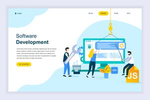Conceito moderno design plano de desenvolvimento de software