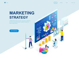 Modern plat ontwerp isometrisch concept van marketingstrategie