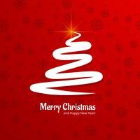 Beautiful merry christmas tree background