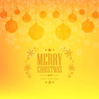 Elegant  merry christmas card with balls background vector