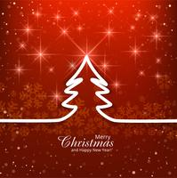 Modern merry christmas red background vector