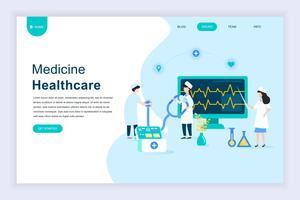 Concept de design plat moderne de médecine en ligne et des soins de santé