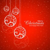 Modern merry christmas festival background vector