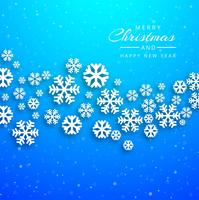 Merry christmas card with snowflake background vector