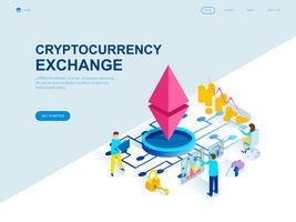 Modern flat design isometrisk koncept av Cryptocurrency