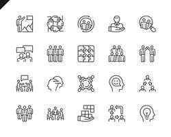 Simple Set of Teamwork Related Vector Line Icons