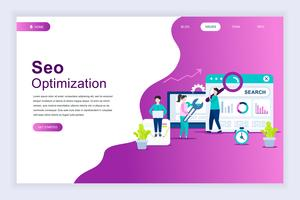 Modern flat design concept of SEO Analysis