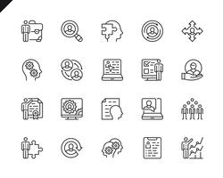 Simple Set of Business Management Related Vector Line Icons