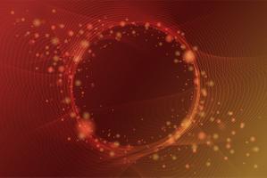 Elegantes abstraktes glänzendes Teilchen mit Kreisraumhintergrund. Ve