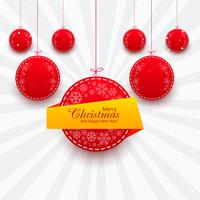 Merry christmas shiny ball festival colorful background