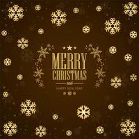 Vetor de fundo lindo feliz Natal floco de neve