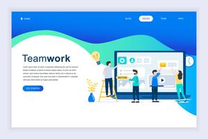 Modern flat design concept of Teamwork