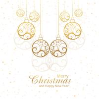 Beautiful merry christmas decorative balls design
