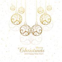 Beautiful merry christmas decorative balls design