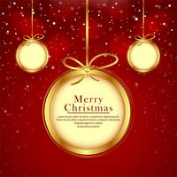Beautiful balls merry christmas festival background