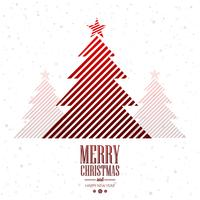 Beautiful merry christmas creative tree card background