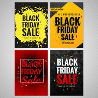 Beautiful black friday brochure background set design