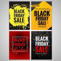 Beautiful black friday brochure background set design
