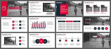 Plantillas de diapositivas de presentación de negocios de infografía