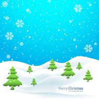 Winter merry christmas tree background vector