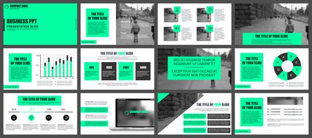 Business presentation slides templates from infographic elements