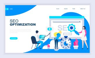 Modern flat design concept of SEO Optimization
