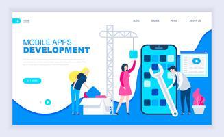 Modernes flaches Designkonzept der App-Entwicklung
