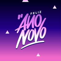 Feliz Ano Novo Greeting Headline Template