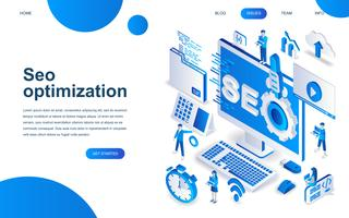 Modern isometric design concept of SEO Analysis