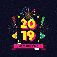 Feliz año nuevo Instagram Vector