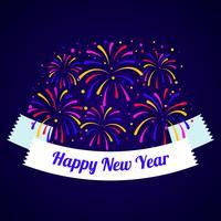 Bonne année feux d'artifice