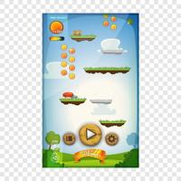Jump Game User Interface Design für Tablet