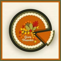 Papercraft Thanksgiving Pumpkin Pie