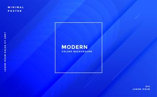 awesome blue modern banner design template
