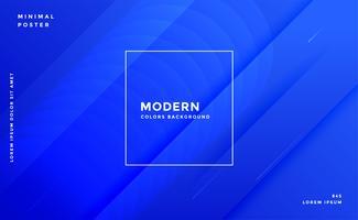 plantilla de diseño de banner moderno azul impresionante