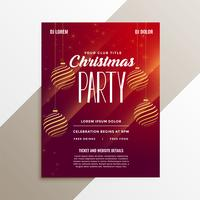 awesome christmas party  flyer layout template