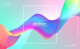 Fondo de onda colorido dinámico abstracto
