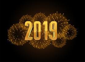 happy new year 2019 celebration fireworks background