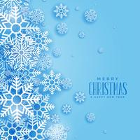 lovely christmas winter snowflakes background