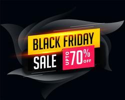 abstrakt attraktiv svart fredag försäljning banner