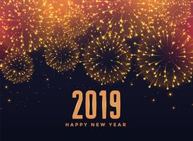 2019 happy new year fireworks background