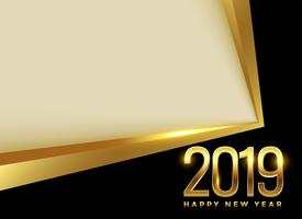 golden 2019 new year background with text space