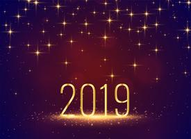 Fondo hermoso de celebración de estrellas de destellos 2019