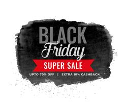 black friday sale watercolor background design