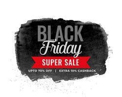 black friday sale watercolor background design