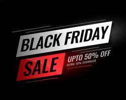 Schwarzer Freitag Verkauf Banner mit Rabatt Details