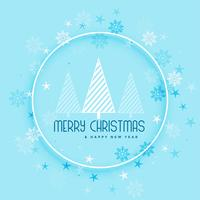 beautiful snowflakes and tree background for merry christmas