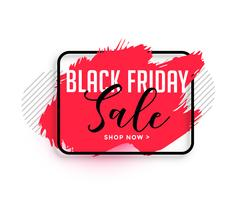 abstract red watercolor black friday sale banner